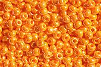 Бісер 98110 Ргесіоѕа (Чехія) жовто-оранжевий перловий 25г