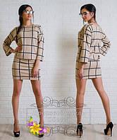 Костюм в крупную клетку блуза + узкая юбка Батал! (НАТ) 03156/1