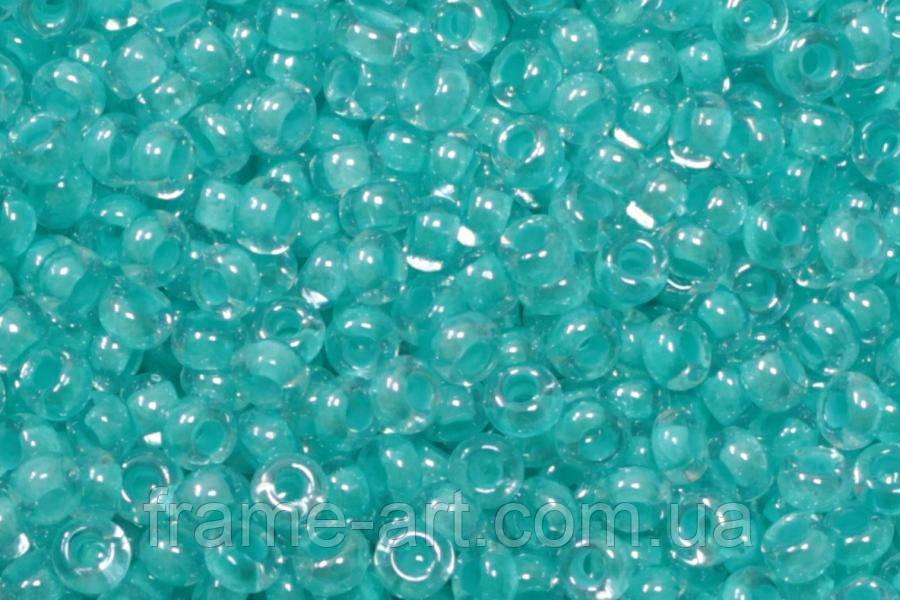 Бісер 38155 Ргесіоѕа (Чехія) бірюзовий глазур фарбований 25г