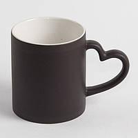 Чашка сублимационная чёрная - хамелеон Love