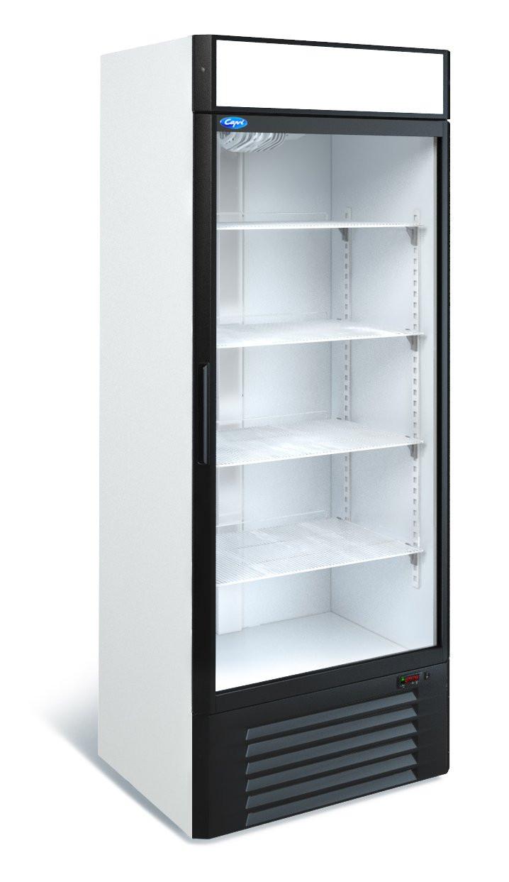 Холодильна шафа вертикальний 700 літрів Капрі 0,7 СК (0...+7 С) скло