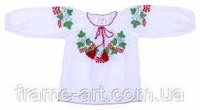 Сорочка вишита, для дівчинки 1660-20-311 р. 122-64 д. р. біла калина