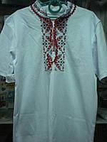 Сорочка вышитая мужская р.44 к.р. белая с красным