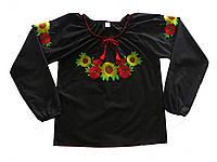 Сорочка вышитая женская 1777-20-311 р.170-92 д.р. черная