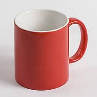 Чашка сублимационная красная - хамелеон глянец