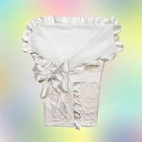 """Конверт-одеяло для новорожденного на выписку""""Шампань"""", фото 1"""