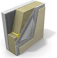 Утепление фасада минеральной ватой 50 мм.