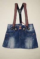 """Детские джинсовые юбочки в складку для девочек. Фирма """"Dong"""", Венгрия. Р-ры: 4-12"""