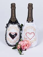 Чехол на бутылку 8293 Сердца влюбленных, набор для вышивания