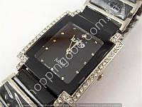 Часы Rado Jubile 8021 женские прямоугольные серебристые с черным