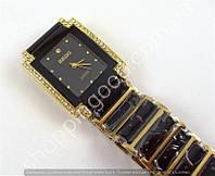 Часы Rado Jubile 8021 женские прямоугольные черные с золотом