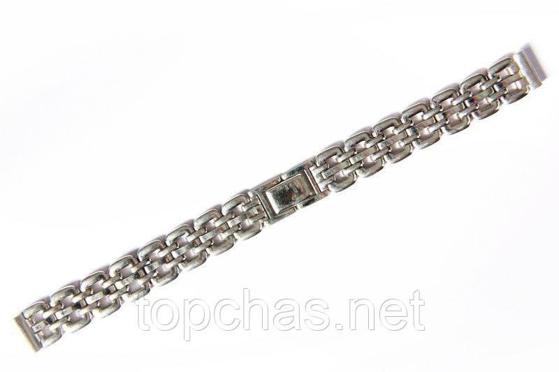 Браслет классический Nobrand для наручных часов серебряный , 12 мм