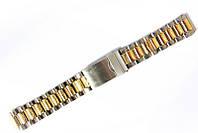 Браслет класичний Nobrand для наручних годинників комбінований (срібло , золото), 18 мм