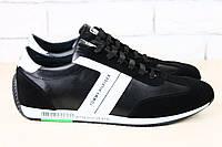 Кожаные мужские кроссовки с вставками замши Tommy Hilfige