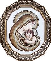 БС Солес МИ-с-з Мария с Иисусом (сепия-золото) схема под бисер