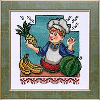 БС Солес ВК-05 Веселая кухня, схема под бисер