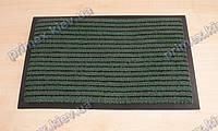 Ковер грязезащитный Полоска без вкраплений, 60х90см., зеленый
