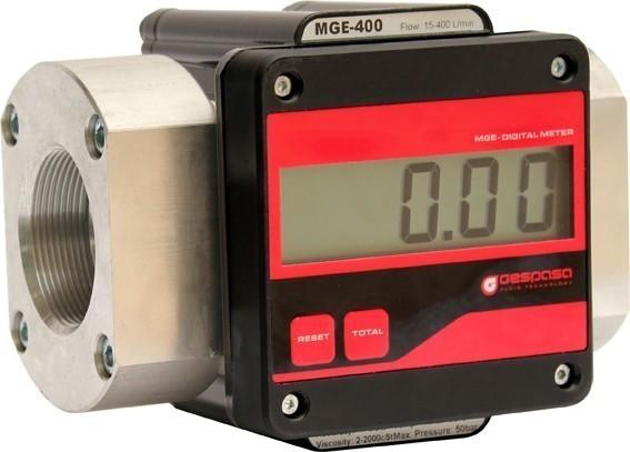 MGE 400 - электронный расходомер учета большого протока дизельного топлива, масла, 15-400 л/мин