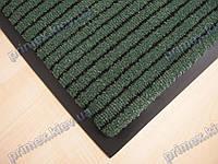 Ковер грязезащитный Полоска без вкраплений, 90х150см., зеленый