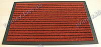 Ковер грязезащитный Полоска без вкраплений, 60х90см., красный