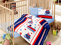 Детский комплект постельного белья для новорожденных в кроватку, в коробке, ранфорс,Cotton Box Denizci, Турция