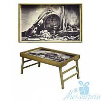 Столик для завтрака в кровать Винный натюрморт