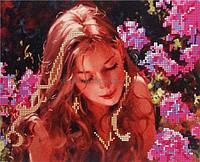 I.B. Studio Б-4010 Девушка в цветах, рисунок на ткани под бисер