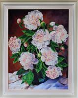 Картины бисером Р-103 Букет пионов, набор для вышивания бисером