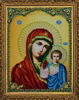 Картины бисером Р-108 Казанская Бож Матерь, набор для вышивания бисером