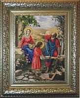 Краса и Творчисть 10411 Святое семейство, набор для вышивания бисером