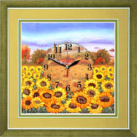 Маричка ЧНЛ-2-006 Часы. Желтое поле подсолнухов, набор для вышивания лентами
