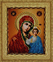 Картины бисером Р-113 Казанская Икона Божией Матери, набор для вышивания бисером