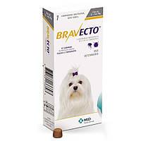 БРАВЕКТО - жевательная таблетка для защиты собак от клещей и блох, весом 2 — 4,5 кг
