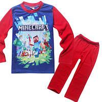 Детский трикотажный костюм Майнкрафт (красный)