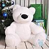 Большой плюшевый медведь Бублик 80 см (белый)