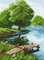 Матренин Посад 940 Берег озера, канва с рисунком