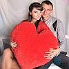 Подушка в виде сердца 75 см (красный)
