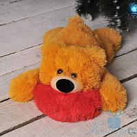 Мягкая игрушка Лежачий плюшевый Мишка Умка 55 см (медовый), фото 1