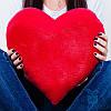 Плюшевое сердце 25 см (красный)