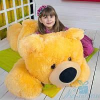 Мягкая игрушка Лежачий плюшевый Мишка Умка 100 см (жёлтый), фото 1