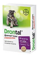 Таблетки Drontal, Bayer Дронтал Плюс зі смаком м'яса, 6 шт 061.0065