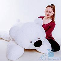 Мягкая игрушка Лежачий плюшевый Мишка Умка 180 см (белый)