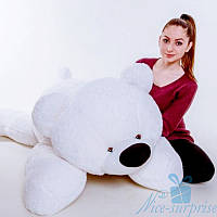 Мягкая игрушка Лежачий плюшевый Мишка Умка 180 см (белый), фото 1