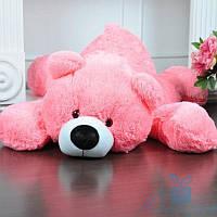 Мягкая игрушка Лежачий плюшевый Мишка Умка 65 см (ярко-розовый), фото 1