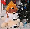 М'яка іграшка Лежачий плюшевий Ведмедик Умка 65 см (білий)