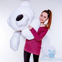 Мягкая игрушка Лежачий плюшевый Мишка Умка 125 см (белый), фото 1