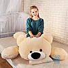 Мягкая игрушка Лежачий плюшевый Мишка Умка 125 см (персиковый)