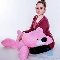 Мягкая игрушка Лежачий плюшевый Мишка Умка 55 см (розовый)