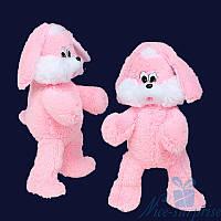 Мягкая игрушка Плюшевый Зайчик Снежок 65 см (розовый), фото 1