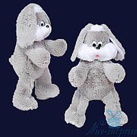Мягкая игрушка Плюшевый Зайчик Снежок 100 см (серый), фото 1